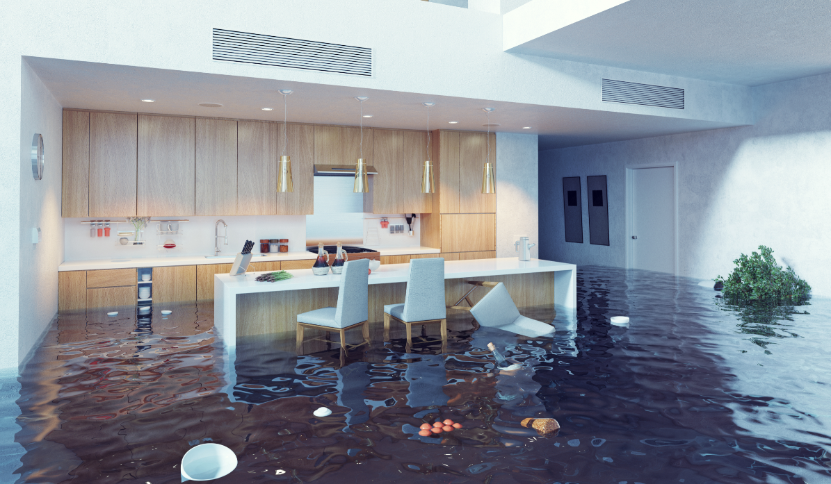 home flooded from natural disaster